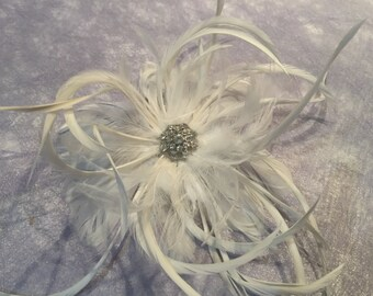 ELEANOR - Bling & Feather Hair Piece