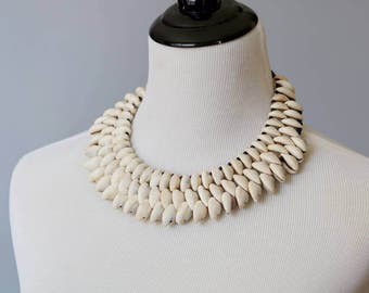 Three strand cowry shell Necklace