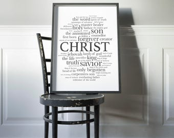 Printable Christian Gift | Printable Easter Art | Easter Decor | Jesus Wall Decor | Easter Sign | Christian Wall Art | Christian Print Art