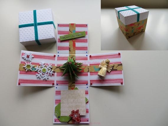 Christmas Exploding Box - Perfect Gift, Fabulous Card Handmade