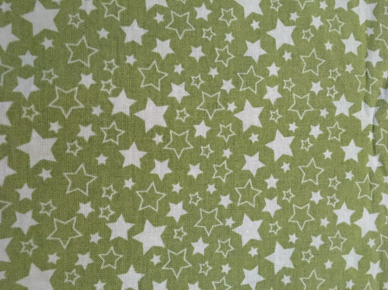 Green star fabric by the yard nursery fabric celestial for Star fabric australia