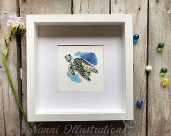 Watercolor Turtle Art
