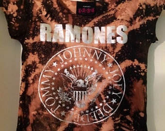 3T CUSTOM girls Ramones shirt