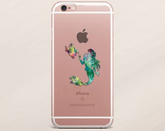 iPhone 6 Plus cas sirène iPhone 6 cas Disney iPhone 6 s cas Disney Mermaid iPhone 6 s Case Plus iPhone 7 cas iPhone 7 Plus cas clair
