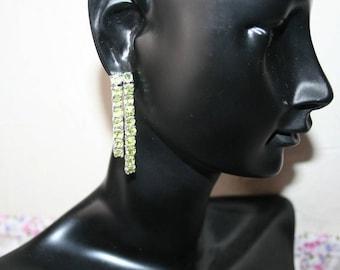 Earrings in Sterling Silver 925/1000 seam Peridots