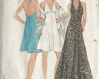 1970s Vintage Sewing Pattern B34 DRESS (R745) Butterick 6634