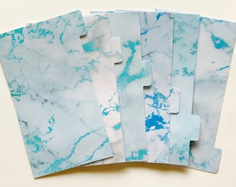 Frost Marble - Planner Dividers/Planner accessories