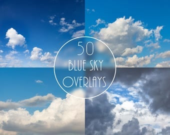 Blue Sky Overlays, Sky Backdrops, Heaven Backgrounds, Clear Sky, White Clouds, Sky Digital Paper, Sky Digital Background, Sky Clip Art