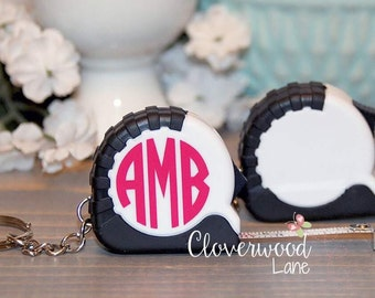 Personalized Measuring Tape Keychain / Personalized Keychain / Measuring Tape Keychain / Personalized Gift / Stocking Stuffer