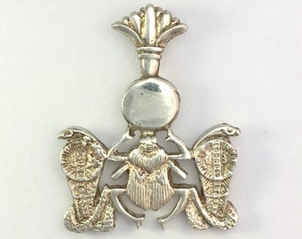 Vintage Solid Silver Egyptian Revival Pendant