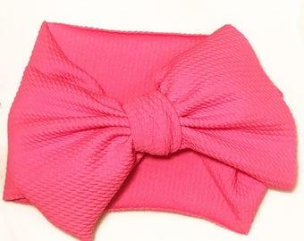 Hot pink stretch wrap