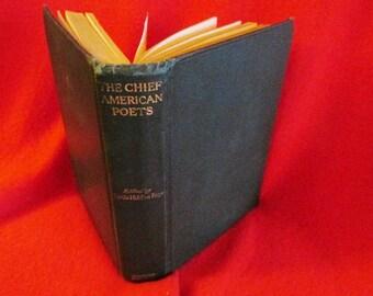 "Vintage Poetry Book ""The Chief American Poets"", Curtis Hidden Page, Editor"