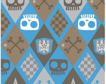 Skull Argyle Fleece Throw Blanket /David Textiles/Free shipping available/boys blankets/skull blankets