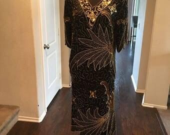 Black and Gold Vintage Dress