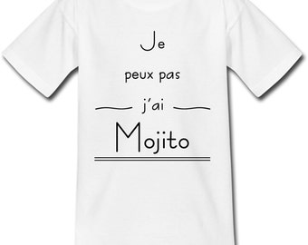 T-shirt adult - I can't I Mojito