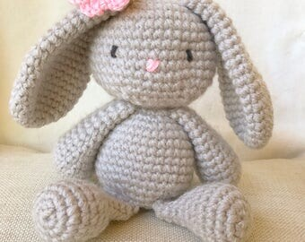 Bunny Crochet Doll, Bunny Amigurumi, Bunny Doll, Baby Shower Gift, Crochet Doll