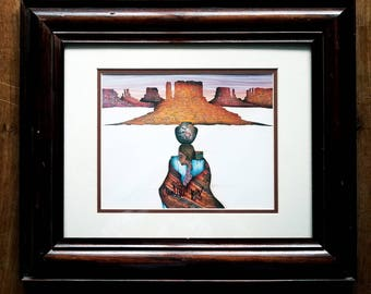 Amado Pena Signed Print Native American