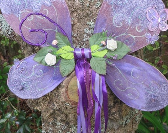 Deluxe, Purple Handcrafted Wire Fairy Wings