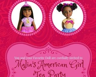 American Girl Invitation