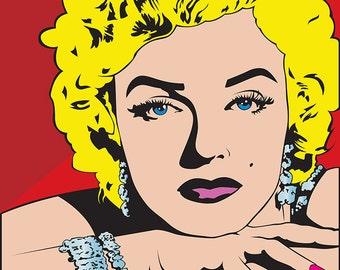Marilyn Monroe (12 x14) Pop Art,Canvas Art,Prints,Gallery wrapped.