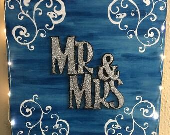 Mr&Mrs wood sign