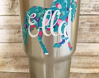 Horse Monogram/Yeti Decal/Horse Decal/Horse Sticker/Equestrian Decal/Personalized Decal/Tumbler Decal/Car Decal/Laptop Decal/Birthday Gift