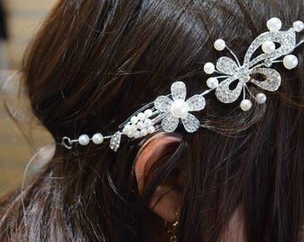 Wedding Hair Vine, Floral Hair Vine, Bridal Hair Accessory