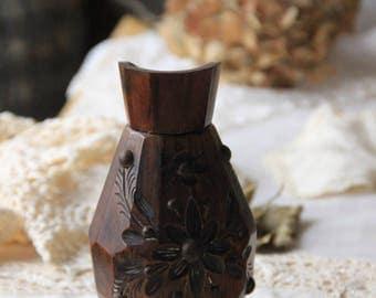 old carved vase
