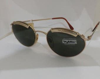 BYBLOS sunglasses vintage retro eyewear glasses made in italy years 80 tempered