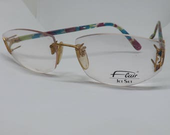 Ladies vintage retro flair eyeglasses eyewear glasses made in germany years 80