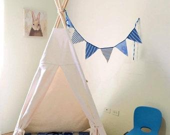 Teepee / Teepee with set inlcuded / wood pole included / Kids teepee / play tent / canvas / decoration kids room