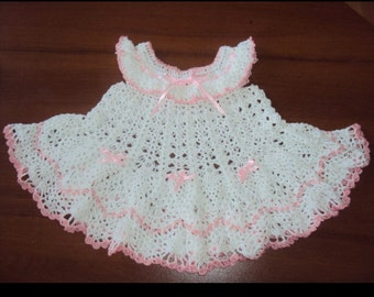 Crochet baby dress Crochet dress Baby girl dress Baby dress Christening dress Crochet baby clothesCrochet baby dress Crochet girl dress Baby