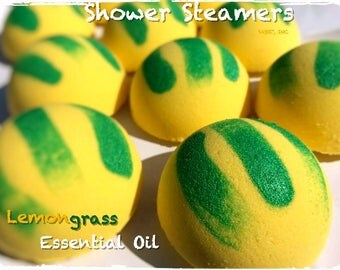 PACK NEW LARGE Strongly Scented Lemongrass Shower Steamers / Shower Bombs / Shower Deco / Shower Fizzy