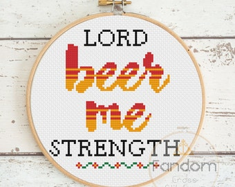 Beer Me - Office Cross Stitch Pattern PDF | Download | Geek Cross Stitch Pattern | Jim Halpert Quote Cross Stitch Pattern