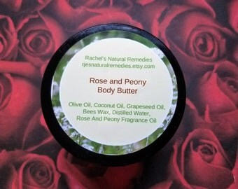 Organic Rose and Peony Body Butter