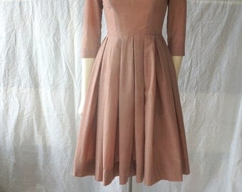 Adorable 1950s Ballet Style Swing Dress-FREE SHIPPING