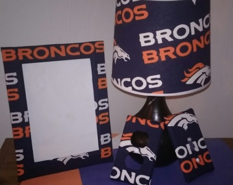 Denver Broncos lamp set