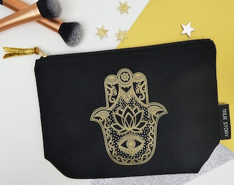 Hamsa Hand Protection Make Up Bag