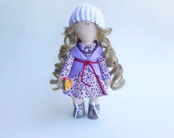 Cloth doll, rag doll, tilda doll,  interior doll, fabric doll, stuffed doll, stuffed toy, decoration, textile doll, gift, decor