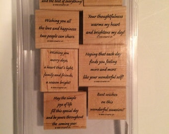 Quotes stamp set from Stampin' Up!