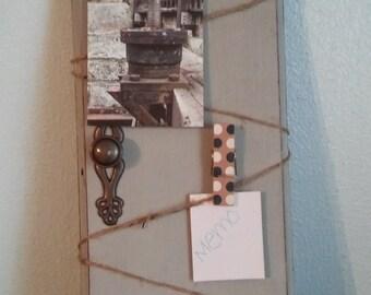 Recycled door photo display