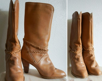 1970s Town & Country leather boots | vintage 70s boots | vintage leather boots