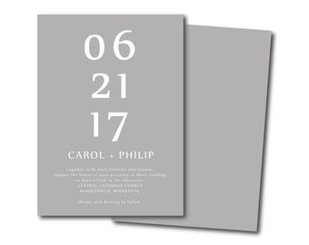 DIFFERENT MINIMALIST Wedding Invitation,modern Simple Wedding Invitation,Black and White Affordable Invitation,Minimal Printable DIY Invite