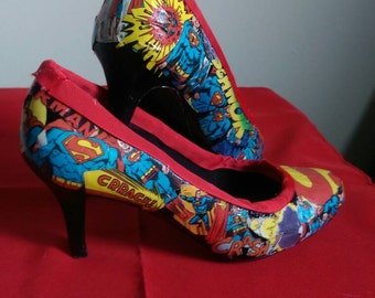 Custom Comic Book Heels