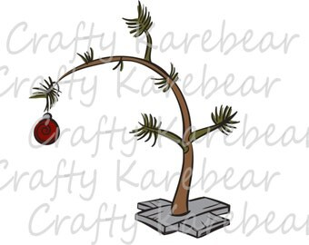 Charlie Brown Christmas Tree SVG and DXF Digital File Download