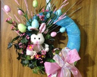 Easter Spring Wreath, Bunny wreath