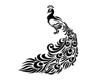Peacock svg, bird svg, peacock clipart, svg, dxf, cricut, silhouette cutting file, download