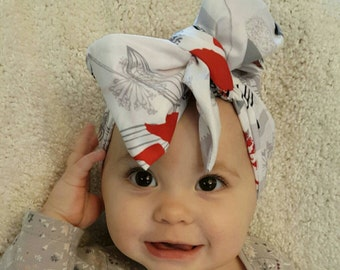 Wildflower power big baby bow head wrap baby turban girl infant toddler