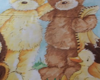 "Popcorn The Bear Baby Quilt Panel - 42 1/2"" X 35"""