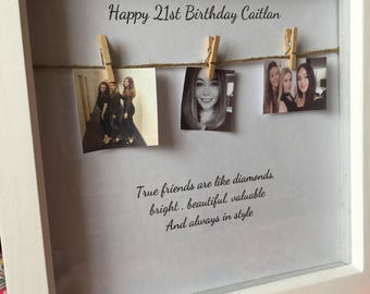 birthday frame with hanging photos